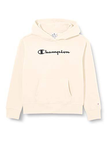 Champion Girls' Seasonal Big Logo Hooded Sweatshirt Felpa, Bianco Sporco (Ww005), XS Bambino