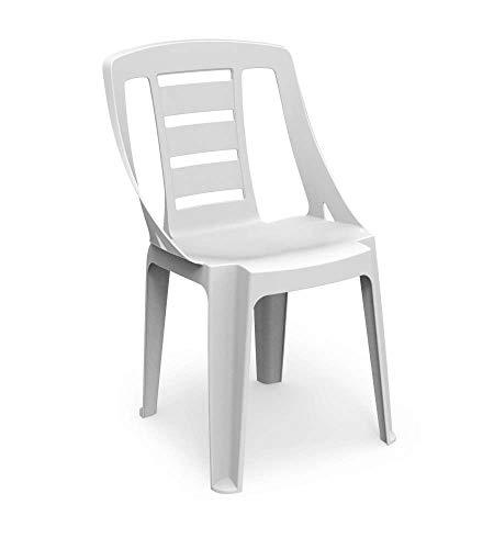Ipae SONDA Polypropylen stapelbar Stuhl, weiß, 48x 52,5x 81cm
