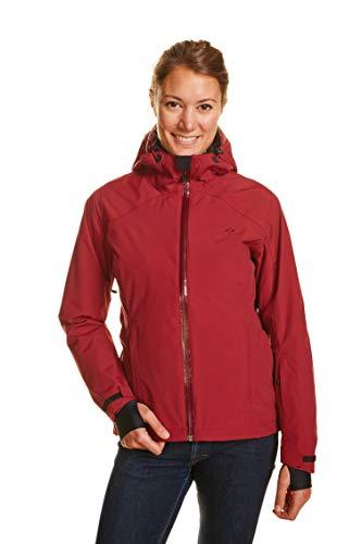 Jeff Green Damen Atmungsaktive wasserdichte Outdoor Funktions Jacke Clara 12,000mm Wassersäule, Größe - Damen:36, Farbe:Biking Red