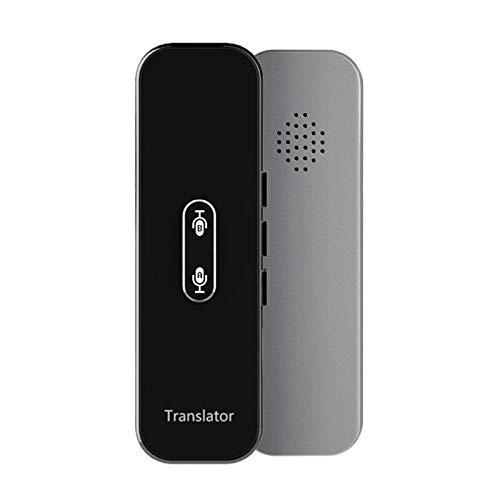 AI Smart Translator - Traductor portátil de voz instantánea, traductor bidireccional, 40 idiomas, traducción, viajes, texto de negocios, traductor inteligente, Bluetooth, multi-idioma, color gris