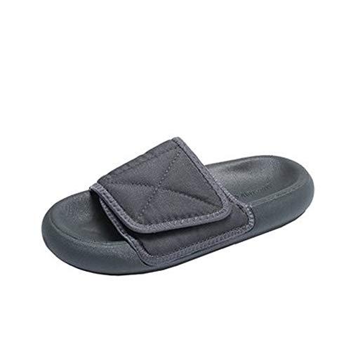 Herren Hausschuhe Casual Herren Hausschuhe Sommer Herren Schuhe Bequem Wild Outdoor Strand Schuhe Dicke Unterseite Anti-Rutsch Sandalen, Grau - grau - Größe: 39 EU