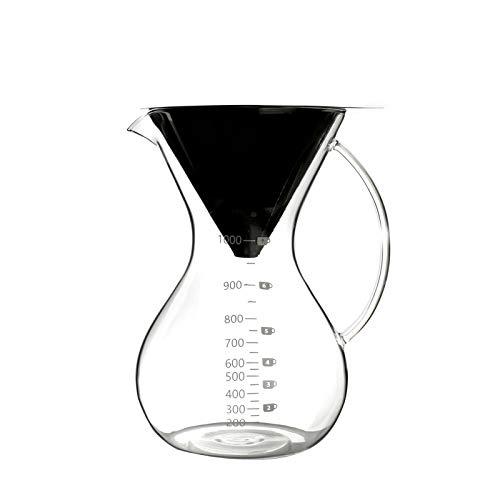 FFDGHB Teekanne Glas Teekanne Kaffeekanne Edelstahl Teekanne Tropf Teekanne Handgebraut Kaffeekanne