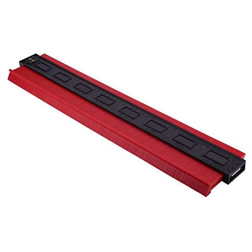 SUMTTER Konturenlehre 500MM, Profillehre Lineal Konturvervielfältiger Konturmesser für präzise Messungen Fliesen Laminat Holz Markierwerkzeug (Rot)