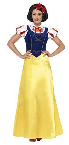 Smiffys 24643M - Fever Damen Schneewittchen Kostüm, Größe: 40-42, gelb