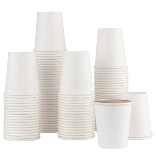 [100 Pack] 5 ounce Paper Hot Cups Disposable Coffee Cup for Bathroom, Espresso, Mouthwash Cups