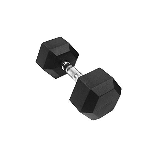 Fitness Dumbbells Barbell Set Of 2 Hex Rubber Dumbbell With Metal Handles Heavy Dumbbell Exercise Arms Training Biceps Workout (1pc×dumbbell - 30lbs)