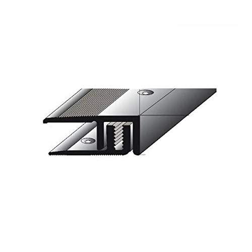 5 Meter (5 x 1 m) Abschlussprofil Laminat Parkett , für eine Höhe von 5 – 9 mm, 21 mm breit, 2-teilig, Alu eloxiert, gebohrt