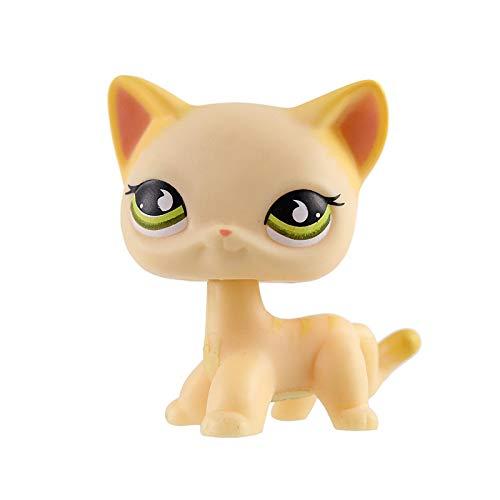 Pet Shop Lps Juguetes De pie Anime Personajes Raros Shorthair Gato Egipto Gris Ojo Azul Carácter Modelo Colección Niños Regalo Juguetes