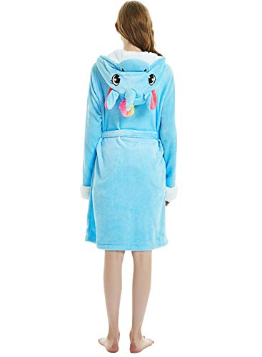 dressfan volwassen dier met capuchon robes jurk jurk flanel pyjama's roben winter warme vrouwen/dames