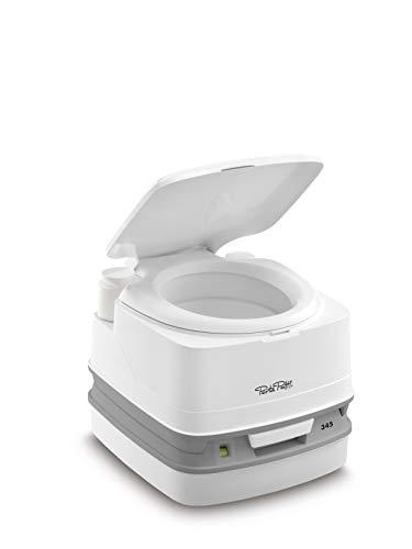 Thetford 92806 Porta Potti 345 Tragbare Toilette Qube, Weiß-Grau, 330 x 383 x 427 mm