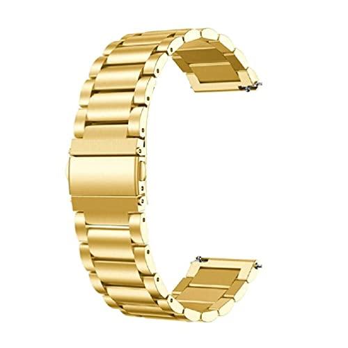 UNF Correa de Reloj de Acero Inoxidable sólido para Oneplus Correa de Reloj One Plus Smart Watch Correa de Metal con Doble Hebilla a presión