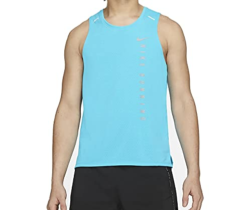 Nike Run Division Miler Canotta da uomo, azzurro - grigio, XL