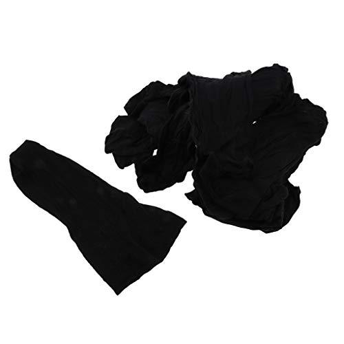 Fenteer 100pcs Bonnet Perruque Casquette Maille Tissage Chapeaux Extensions de cheveux