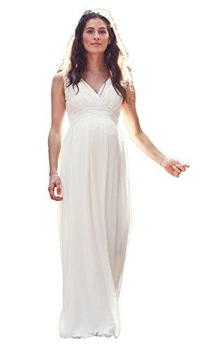 bellybutton Hochzeitskleid Dilara Damen Umstandsmode Kleid Dress Umstandsbrautkleid 11805 (36, Creme (altweiss))