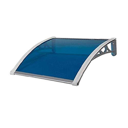 Vordach Türdach Pultbogenvordach Haustür Überdachung Vordach Überdachung 2.7 Mm Vordach Mit Alu-Regenrinne (Color : Blue, Size : 60cmx100cm(1 pc))