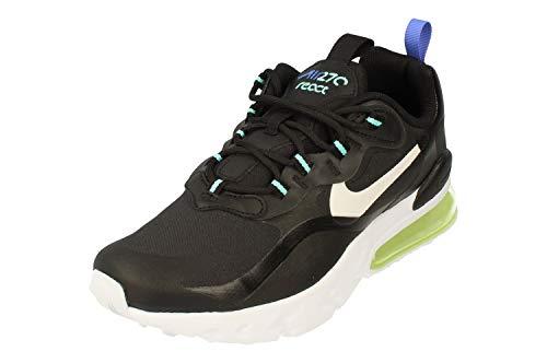 Nike Air MAX 270 React GS Running Trainers CZ4212 Sneakers Zapatos (UK 4.5 us 5Y EU 37.5, Black White Laser Orange 001)