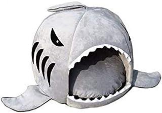 SKEIDO L Size grey warm Soft Dog House Pet Sleeping Bag Shark Dog Kennel Cat House