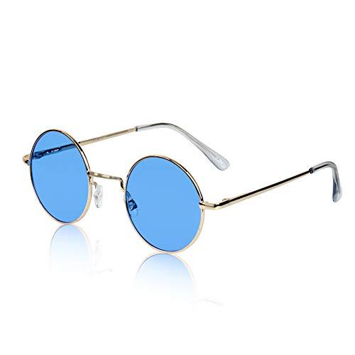 John Lennon Sunglasses Style Ozzy Osbourne Quavo Eye Sun Glasses Shades Blue