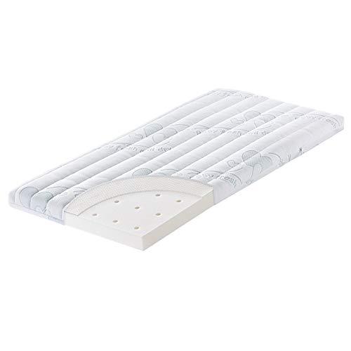 Julius Zöllner Matratze für Beistellbett & Wiege - 90 x 40 - Traumfänger AIR | Original Baby Fresh & Dry Funktionsbezug | mit eingearbeitetem AIR Topper | Bezug abnehmbar und waschbar bei 60°C