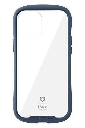 iFace Reflection iPhone 12 Pro Max ケース iPhone2020 6.7インチ クリア 強化ガラス [ネイビー]