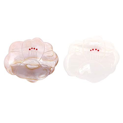 [キステ] 箸置き セット 椿 2点セット(紅、白) 天然素材 貝製 ペア箸置き 木箱入り 日本製