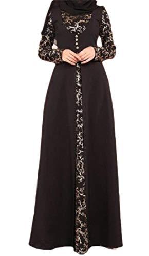 GenericC Womens Muslim Islamic Lace Long Sleeve Maxi Dress Kaftan Abaya Party...
