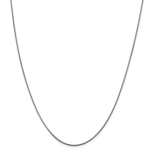 925 Sterling Silver .8mm Square Snake Chain Necklace 24 Inch Pendant Charm Fine Jewelry For Women Gifts For Her