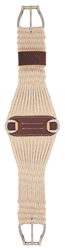 Weaver Leather 100% Mohair 27Strand Roper Cinch con Jeremiah W Hardware - 35-2436-36, Natural