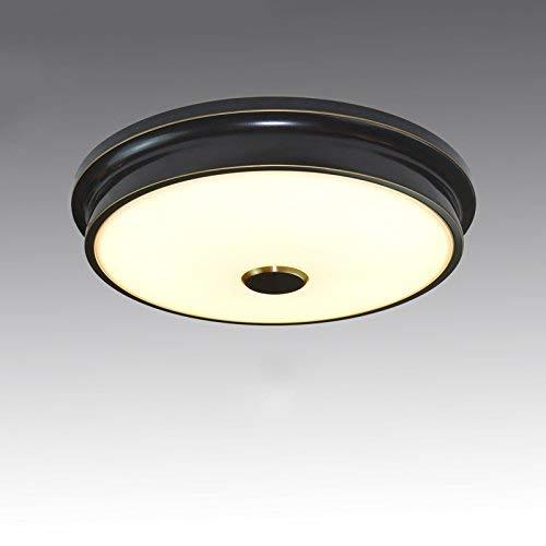 YANGQING Lámpara de techo moderna redonda de hierro con luz LED (1-D32 cm regulable), color: 2-d42 cm regulable (color: 3-d56 cm regulable)