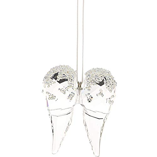 Swarovski Angel Wings - Adorno de Cristal Transparente, 5,2 x 4,3 x 1,5 cm
