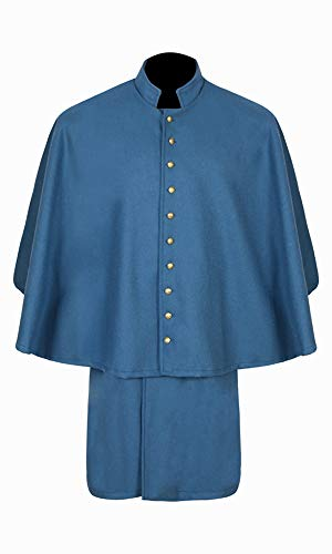 Civil War CS Sky Blue Double Breasted Officer's Great Coat (40)