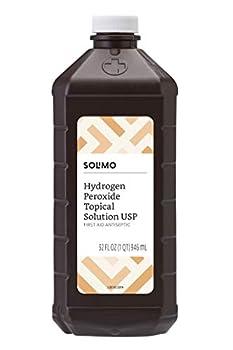Amazon Brand - Solimo Hydrogen Peroxide Topical Solution USP 32 Fl Oz
