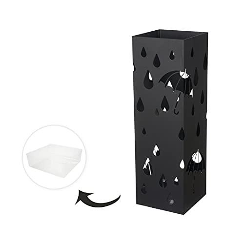 HERSIG - Paraguero Diseño lluvia, Paraguero Original de Estilo Moderno para aguas Color negro