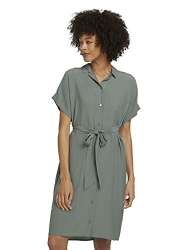 TOM TAILOR mine to five 1025647 Blouse Vestido, 11557-Dusty Leave Green, 36 para Mujer