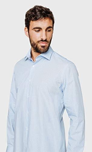 Arrow - Camisa de cuadros pequeños, color azul azul celeste ...