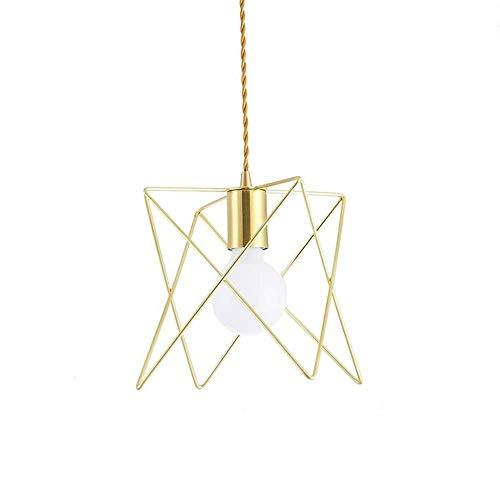 Decoración Hogareña Iluminación Colgante Araña, Hierro forjado oro de bronce creativo moderno de la lámpara de la cama Balcón Bar Recepción tienda de ropa de una sola cabeza de la lámpara de la lámpar
