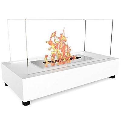 Bio Ethanol Fireplace Indoor Outdoor Camping Glass Top Burner Fire Bari Tabletop