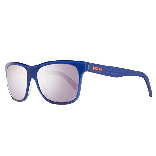 Just Cavalli JC648S 5492L Sonnenbrille JC648S 5492L Schmetterling Sonnenbrille 54, Blau