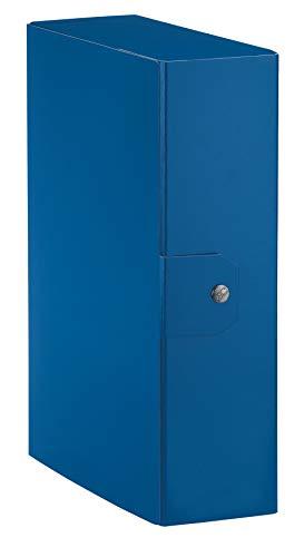 Esselte Eurobox, Cartella Progetti, Formato A4, Dorso 8 Cm, Blu, 1 Pezzo