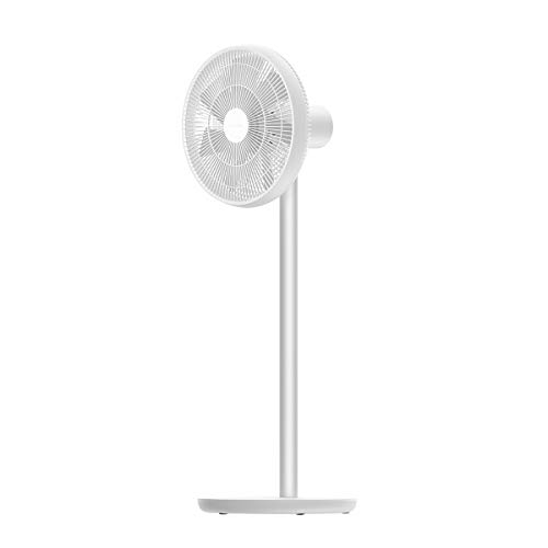Smartmi Standing Oscillating Pedestal Fan 2 DC Motor Quiet Fans Portable Outdoor Floor Electric Fans for Bedrooms Home Office Builtin Lithiumion Battery Cordless Works with Mi Home White