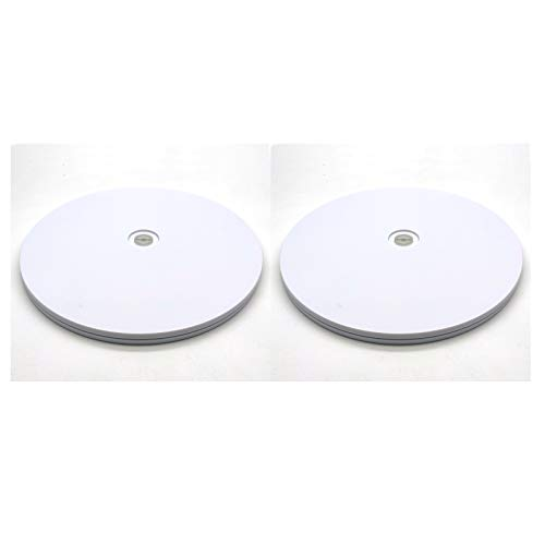 Acrylic Lazy Susan Turntable2-PackAddlike Turntable Kitchen OrganizerOrganization for Flat Panel Monitor TV Cake Painting DisplayPotted Plants and Spice Cabinets 6 White