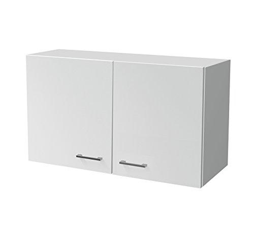 Flex-Well Küchen-Hängeschrank LUCCA | Oberschrank vielseitig einsetzbar | 2-türig | Breite 100 cm | Weiß