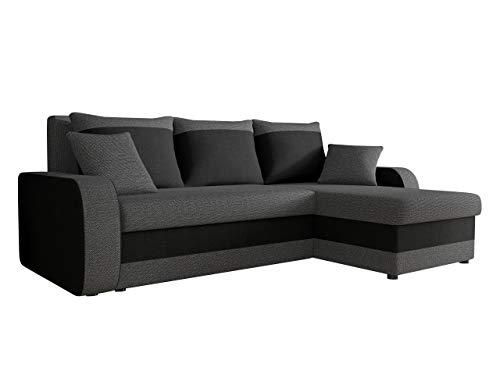 Mirjan24 Ecksofa Kristofer Lux, Eckcouch Couch! mit Schlaffunktion, Zwei Bettkasten, Farbauswahl, Wohnlandschaft! Bettfunktion! Design L-Form Sofa! Seite Universal! (Boss 12 / Boss 14)