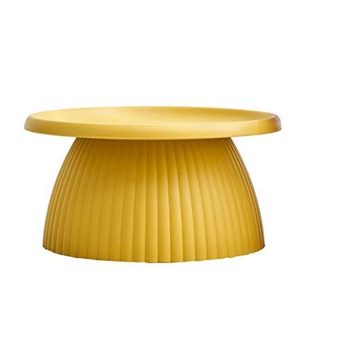 HYAN Mesa de café Redonda Moderna para el hogar Pequeño apartamento para Sala de Estar Mesa a Lado Multifuncional Mesa de té Simple (Color : Yellow)