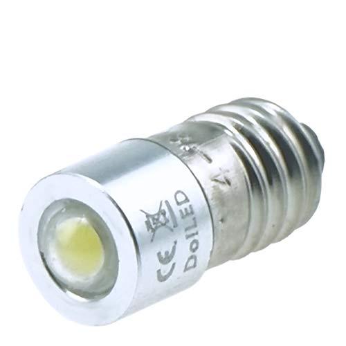 DoLED 0,85 Watt 4-8 Volt E10 LED Cree Birne Schraubsockel Wechselstrom- und Gleichstrombetrieb AC/DC
