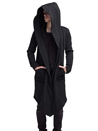 Unisex hombres y mujeres gabardina invierno cálido abrigo largo gótico rompevientos hombres mujeres Cardigan Ninja abrigo