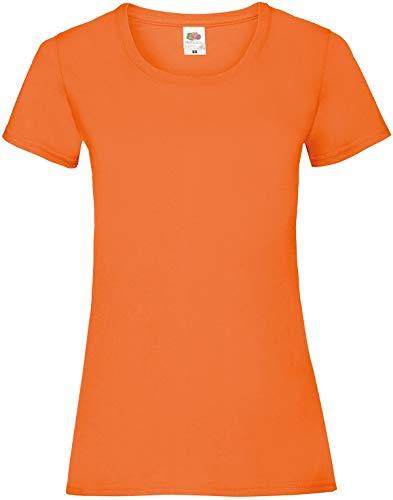 Fruit of the Loom Ss079m Camiseta, Naranja (Orange), Large (Talla del Fabricante: Large) para Mujer