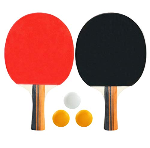 Fantastic Deal! N /A BEISIJIA Table Tennis Racket Set with 3 Ping Pong Balls,Ideal for Beginners a...