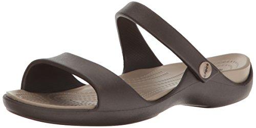 Crocs Cleo V Sandal Women, Damen Sandalen, Braun (Espresso/Mushroom), 34/35 EU