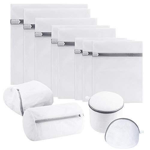 TWBEST Bolsa de Lavadora Malla, Bolsa de Lavandería Cremallera,12 paquetes para lavadora con cremallera reutilizable ropa de cama, ropa interior, calcetines de sujetador